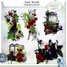 Dark World Embellissements (PU) by Louise L