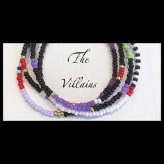 Perfect for Halloween or a trip to Disney! Stack Bracelets, Beaded Bracelets, Disney Villains, Bracelet Set, Halloween, Etsy, Bangle Set, Stacking Bracelets, Pearl Bracelets
