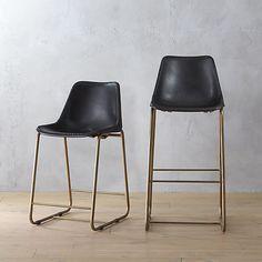 roadhouse black leather bar stools