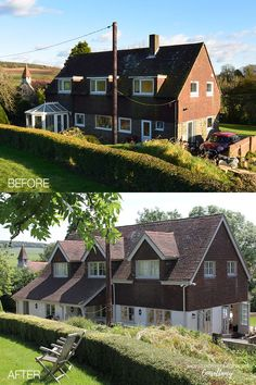This countryside based family home underwent a sympathetic exterior transformation - perfect for its rural surroundings. The dated conservatory to the rear of the property was replaced with a single storey extension, opening up the ground floor space to provide useful utility and boot room spaces. New dormer windows were added around the property, making a subtle but big difference.#homeremodelling #renovation #remodelling #homeinspiration Single Storey Extension, Dormer Windows, Chichester, Floor Space, Open Up, Ground Floor, Home Remodeling, Countryside, Home And Family