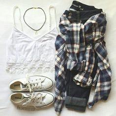 Look fashion, #bohemio, #cute, #comodo, #jeans, #casual, #moda, #outfits, #estilo, #informal, #converse