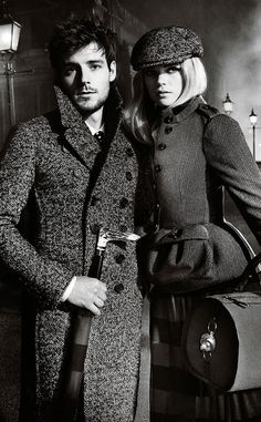 'The Cobbled Streets': The Burberry Autumn/Winter 2012 campaign featuring Gabriella Wilde and Roo Panes