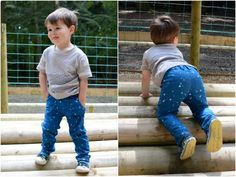 Titchy Threads - Small Fry Skinny Jeans 2T - PDF Pattern