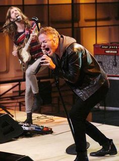 Imagine Dragons singer Dan Reynolds—husband to Niko Vega's Aja Volkman—performs on The Tonight Show with Jay Leno.