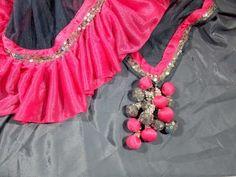 1 par último accesorio de Borla latkan Sari Blusa indio duppata Traje De Costura
