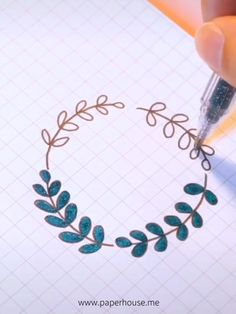 Glitter Spring Plants Wreath If you wanna to watch the video, just tap it to watch the full video on Bullet Journal Month, Bullet Journal Ideas Pages, Bullet Journal Inspiration, Bullet Journal Lettering Ideas, Bullet Journal Writing, Art Drawings Sketches Simple, Easy Drawings, Hand Lettering Art, Doodle Art Journals