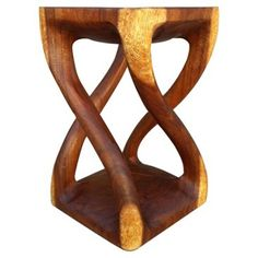 Check out this item at One Kings Lane! 4-Legged Twist Stool, Cognac