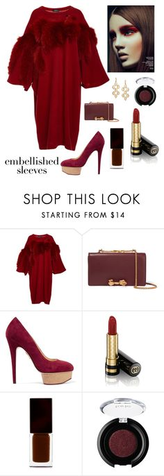 """""""Embellished sleeves"""" by kotnourka ❤ liked on Polyvore featuring Alena Akhmadullina, Valentino, Charlotte Olympia, Gucci, Serge Lutens, tarte and Walters Faith"""