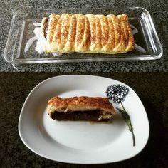 Folhados semi-saudáveis de fds - parte I:  trança de #chocolate #gordicesdesabadoanoite #massafolhada / #weekend #semihealthy #pastries - part I: #chocolate #braid #foodporn #pastryporn #pastry
