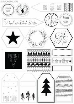 Etykietki do prezentów Christmas Doodles, Christmas Gift Tags, Christmas Crafts, Merry Christmas, Xmas, Organization Bullet Journal, Typography Inspiration, Diy And Crafts, Birthday Gifts