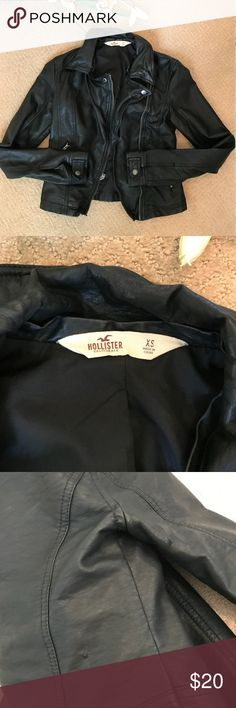 9dd47916c38ee0 Hollister Faux Leather Jacket - XS Super cute faux leather jacket! Honestly  this looks good