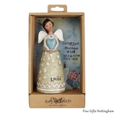 December Birthday Wish Angel Figurine - Kelly Rae Roberts Birthday Angels Collection 1002710187 #DecemberBirthdayWishAngelFigurine #KellyRaeRoberts #FineGiftsNottingham