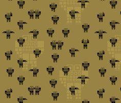 fabric by pacamo on Spoonflower - custom fabric Custom Fabric, Spoonflower, Robot, Gift Wrapping, Digital, Wallpaper, Prints, Pattern, Design