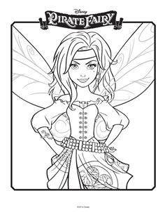 tinkerbell coloring pages 3 Tinkerbell coloring pages: Celebrate the Tinkerbell and the Pirate Fairy film with a picture!