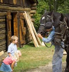 Forest History Center - costumed actors recreate a MN logging camp. Park Rapids. (1 hr from Longville)