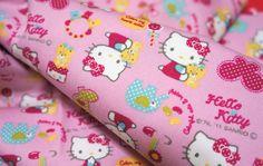 Hello Kitty Fabric Hello kitty by beautifulwork on Etsy, $7.50