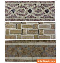 Marble Mosaic Tile Border MS-BD097 Marble Mosaic, Mosaic Tiles, Mosaics, Tile Patterns, Ms, Curtains, Home Decor, Roman Mosaics, Mosaic Pieces