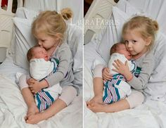 My favorite pic of big sister meeting baby for the first time :)