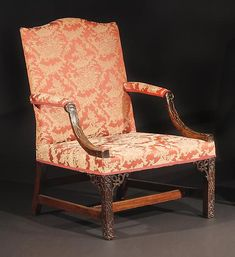 """c1770 A Pair of George III Mahogany Library Armchairs CIRCA 1770 Height: 39"""" Width: 28"""" Depth: 31"""" Seat H: 16.5"""" Inventory Number 7960-257 PRICE$90,000"""