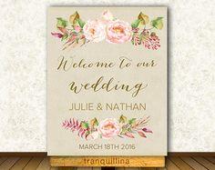 Printable Wedding Menu Floral Wedding Menu Card by tranquillina