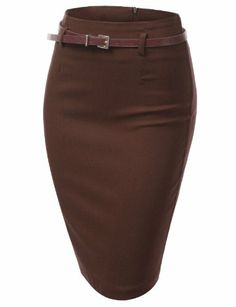 J.TOMSON Womens Stretchy Pencil Skirt With Zipper Skirt Fashion, Fashion Outfits, Split Skirt, Skorts, Business Attire, Diy Clothing, Work Attire, Waist Skirt, Work Wear
