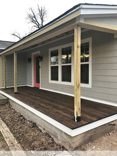 Deck Over Concrete Patio Timber Decking.Timber Deck Over Existing Slab MS Builders New Homes . Subframe Over Existing Patio Building A Deck Deck . How To Clean Timber Decking And Pavers The Courier. Home and Family Porch Steps, House With Porch, Concrete Front Steps, Porch Design, Porch Makeover, Concrete Front Porch, Porch Flooring, Porch Remodel, Building A Porch