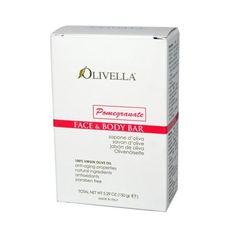 Olivella Face And Body Bar Soap Pomegranate - 5.29 Oz