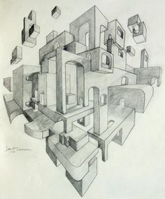 Perspective Study by User9000.deviantart.com on @deviantART