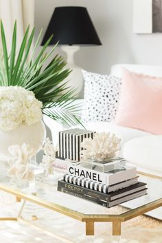 Palm Beach Lately Home Update with Frontgate - Blush Pillows - Blush Pillow - Dalmatian Pillow - Black and white decor - glam - home decor
