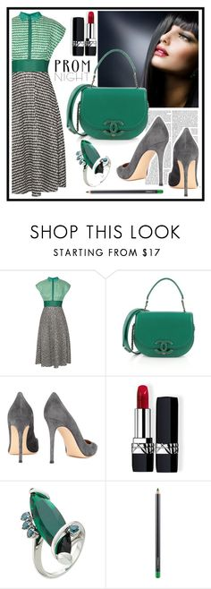 """style"" by sandevapetq ❤ liked on Polyvore featuring Lela Rose, Chanel, Gianvito Rossi, Christian Dior, Delfina Delettrez and MAC Cosmetics"