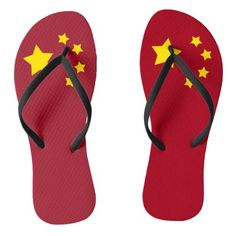 #The flag of the Republic of China Flip Flops - #womens #shoes #womensshoes #custom #cool