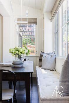 with Jennifer Robin Interiors for Rue Magazine Window seat for living room Interior Design Minimalist, Window Benches, Window Seats, Window Sill, Room Window, Bay Window, Banquette Seating, Corner Seating, Ideas Hogar