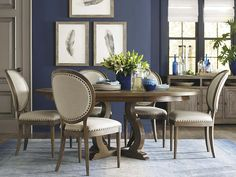 Round Dining Table by Bassett Furniture
