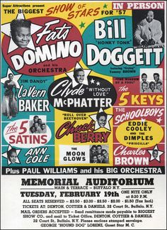 Classic 1957 R & B / Rock 'n Roll Concert Poster