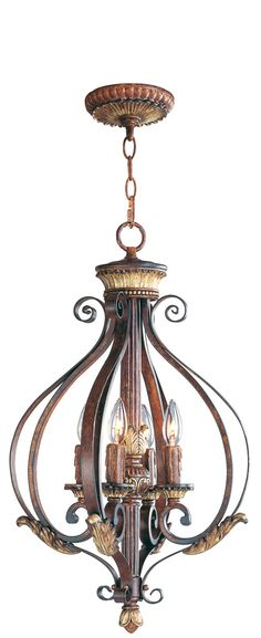 FOYER- This 4 light Foyer Pendant from the Villa Verona collection by Livex will enhance your home with a perfect mix of form and function. The features include a Verona Bronze with Aged Gold Leaf Accents finish applied by experts. This item qualifies for free shipping! Check the right-hand bar or call our dedicated Sales Team for similar items and additional options not pictured.