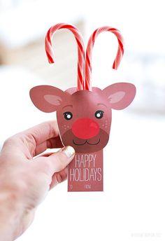 FREE printable reindeer card- cute for school