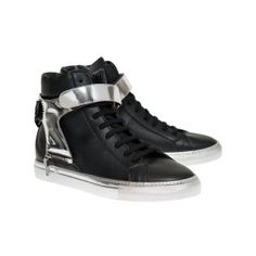 Herry black with silver sole and Silver strap with black eagle Black Eagle, Ss 15, Spring Summer 2015, Men's Collection, Studs, High Top Sneakers, Stylish, Spikes, Stilettos