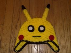 Crochet Pokemon Hat  Kids Crochet Hats by RevelynsHandcrafts