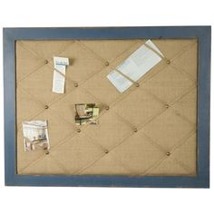 Distressed Wood Framed French Memo Board