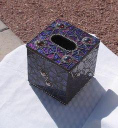 Van Gogh Glass Kleenex Box by Crystal Diamond Designs