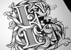 Intricate, Hand-Drawn Typographic Illustrations Filled With Rich Details - DesignTAXI.com