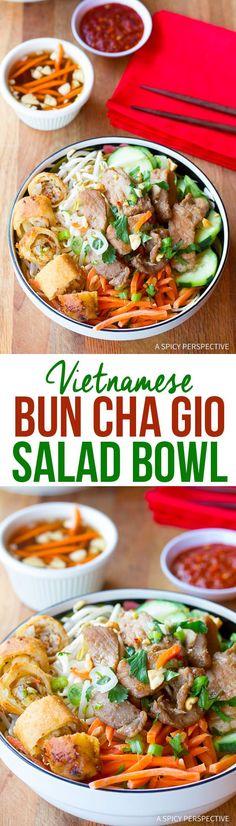 Healthy Vietnamese Bun Cha Gio Recipe | ASpicyPerspective.com