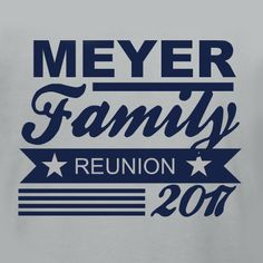 Need a Family Reunion t-shirt idea? Customize this design for your family reunion in our design studio. Edit names and dates, change fonts, colors and t-shirt products easily. Order just a few on our no minimum required products or enjoy bulk discounts if you need a bunch! Free 10-day shipping in the U.S.!