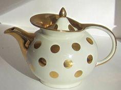 Pinterest the world s catalog of ideas for Gold polka dot china