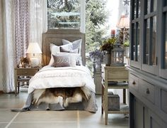 CLASSIC headboard side table and console, NORA cushion, BETHA EMB. BEDDING bed linen.