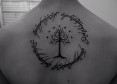 I wouldn't get it, but this is an awesome lord of the rings tattoo