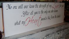 """Strength of My Love Nursery art, Baby girl nursery Baby boy nursery, LARGE Nursery Decor, """"No one will ever know the strength of my LOVE"""" $85 #etsy"""