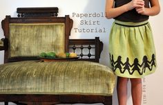 paperdoll skirt tutorial by no big dill