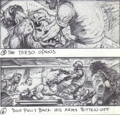 horrornewsnetwork:  Mike Ploog's conceptual art for John Carpenter's The Thing