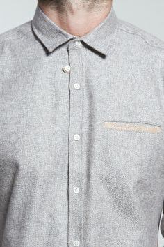 Shop for Oliver Spencer Shirts for Men | Tab Shirt in Cowton Grey | Incu